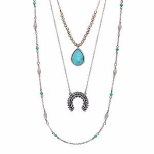 Lucky Brand Layers 4-way Turquoise Necklace Set